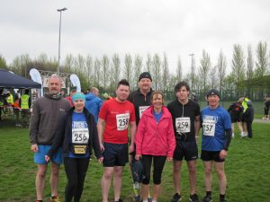 The Southside Fitness Squad before the run, Steve, Cath, Dean, Phil, Maureen, Dillon, Dave